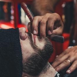 Beard haircut